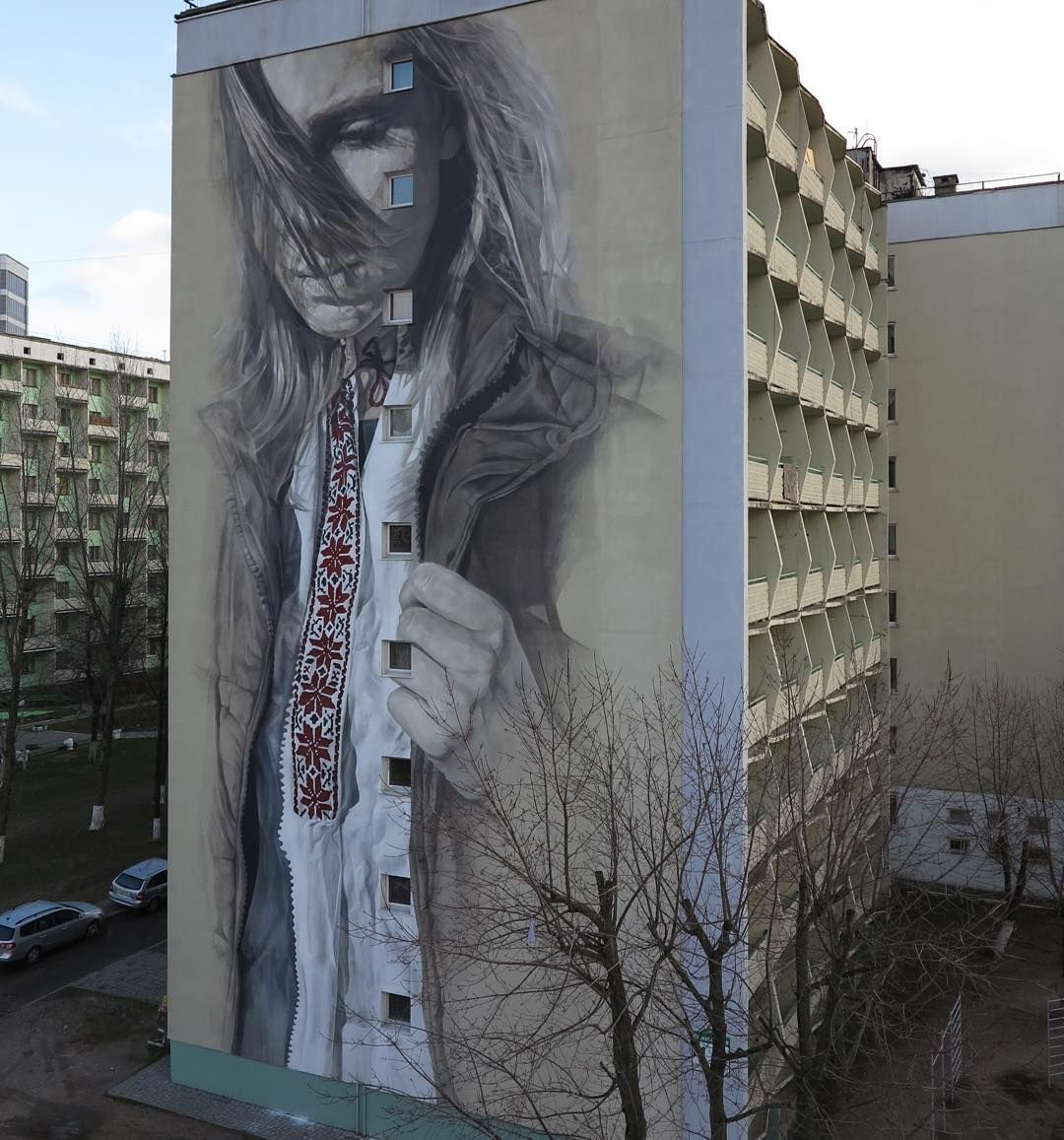 """Just Finished! Guido Van Helten in Minsk, Belarus #streetart #streetartnews @guidovanhelten"""