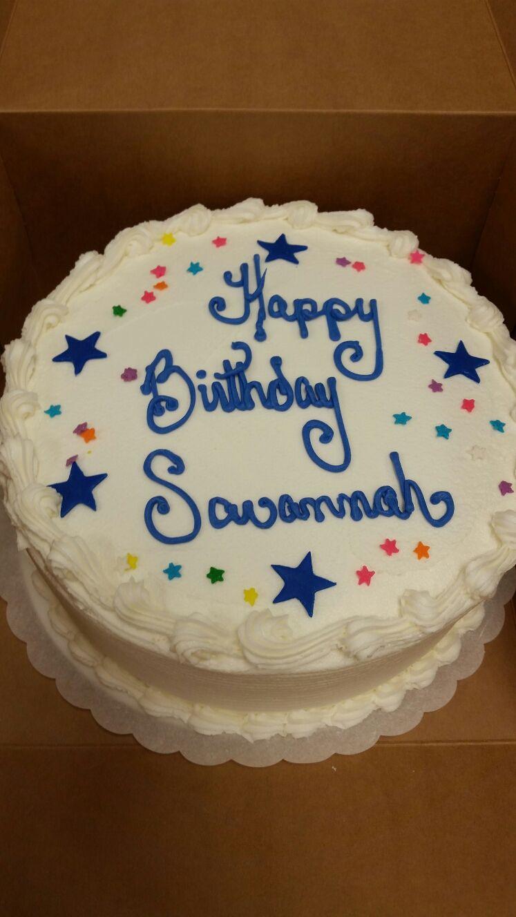Stars And Confetti Birthday Cake 8 Inch Round Triple Layer