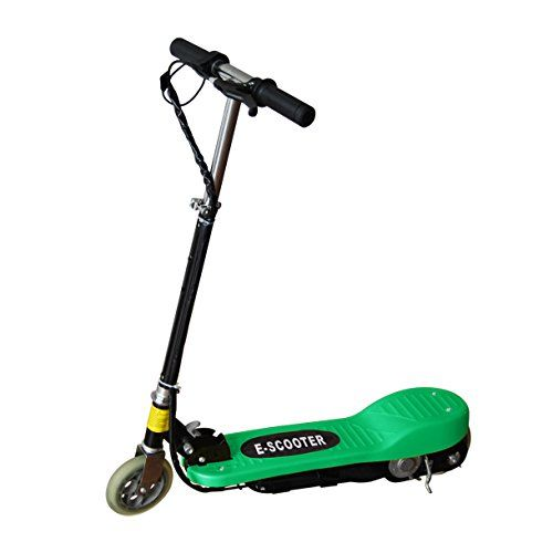 New Electric E Scooter Ride on Rechargeable Kids Toys 120W 24V Scooters Blue