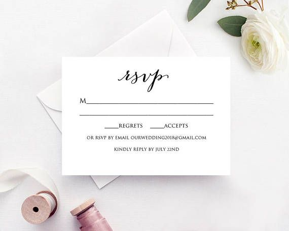 Free Rsvp Card Template Rsvp Card Template Instantly Download Edit And Print Your Own .