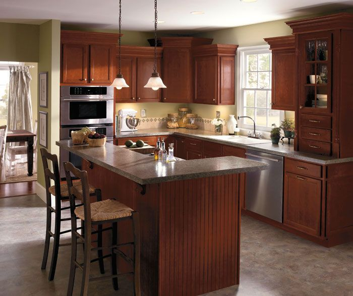 Kitchen cabinet wood type photo gallery aristokraft for for Kitchen cabinet wood types