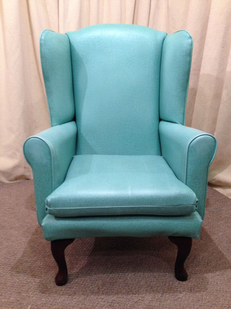Incontinence High Wing Back Easy Chair - Green / Blue OAP ...