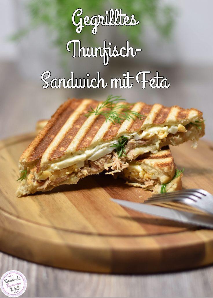Das gegrillte Thunfisch-Sandwich ist im Kontaktgrill schnell zubereitet und sehr lecker