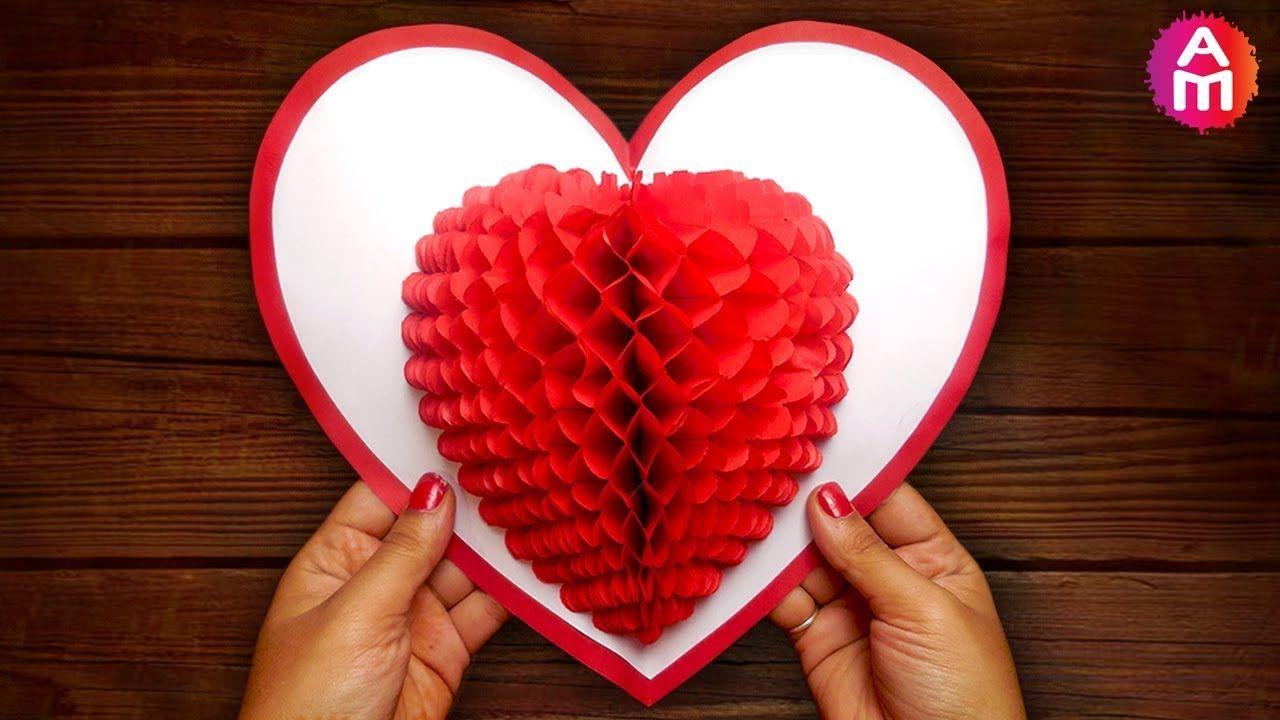 Diy 3d Heart Pop Up Card Valentine Pop Up Card For Heart Pop Up Card Template Free Cumed O Heart Pop Up Card Diy Valentines Cards Pop Up Valentine Cards