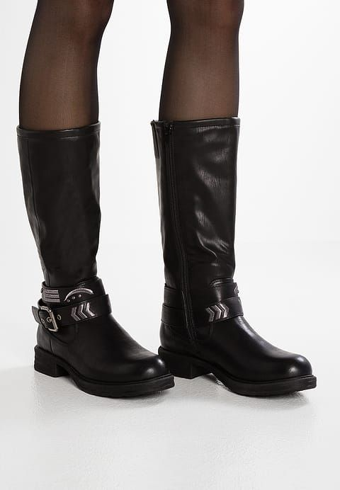 pretty nice c3455 7a892 s.Oliver RED LABEL Cowboy/Biker boots - black for £55.99 (12 ...