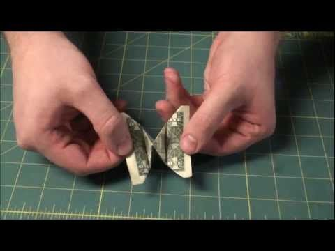 How To Make A Dollar Bill Bow Tie Money Origami Bowtie Easy