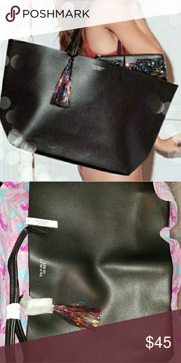 689951b9f BUNDLE SALE-Victoria's Secret large black tote SALE - Bundle any 3 victoria  secret or PINK items in my closet that have