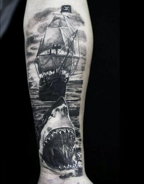 #shark #tattoo #tattoos #ideas #designs #men #formen #menstattooideas