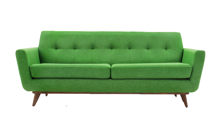 Mid Century Modern Sofa Png Cutout
