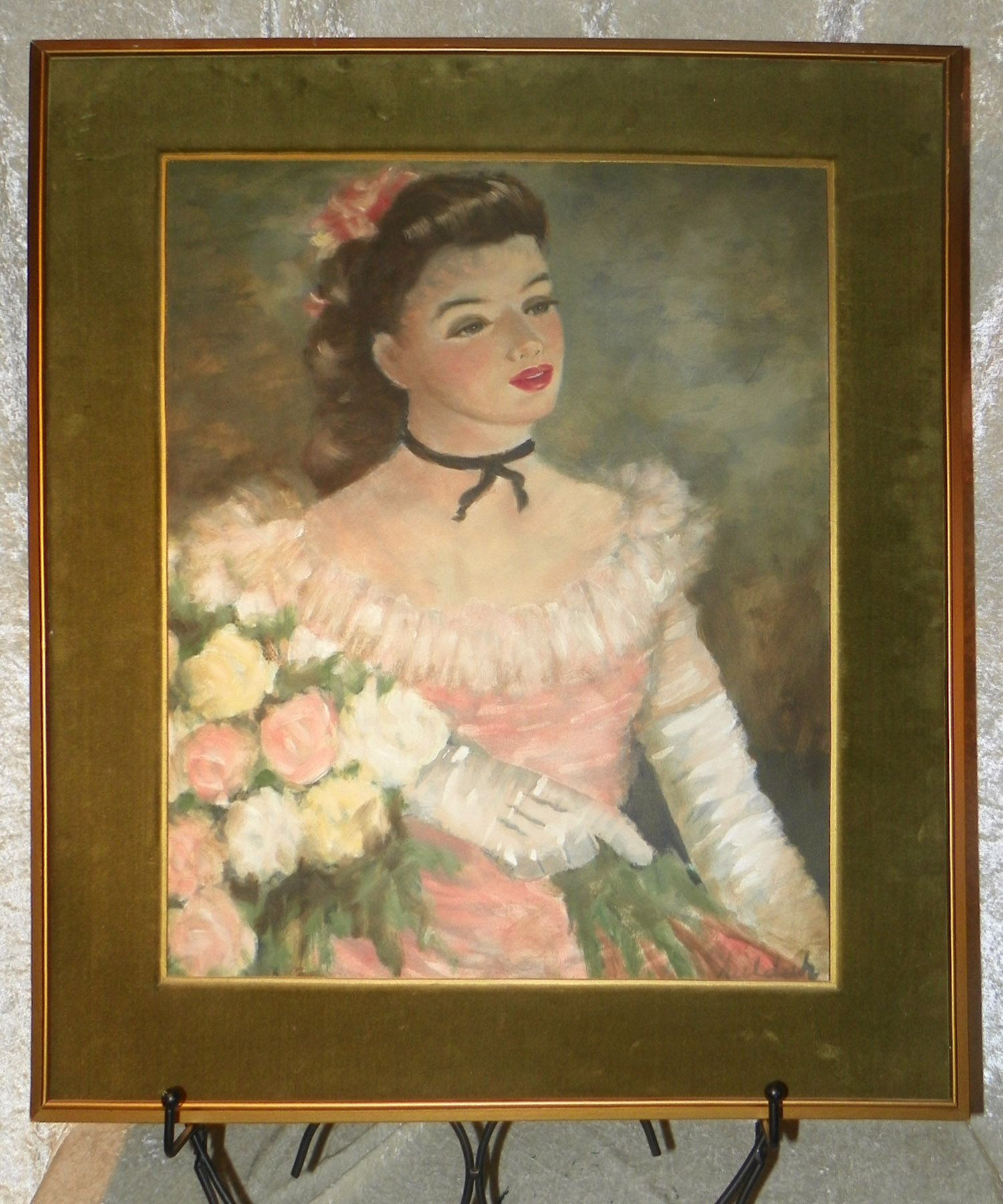 Painting by Huldah Cherry Jeffe - Beautiful Ballerina in Pink - Original  Artwork - Large -