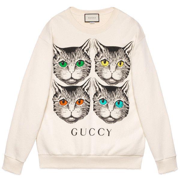 f72f5bdc89f Gucci Mystic Cat Print Sweatshirt ( 1