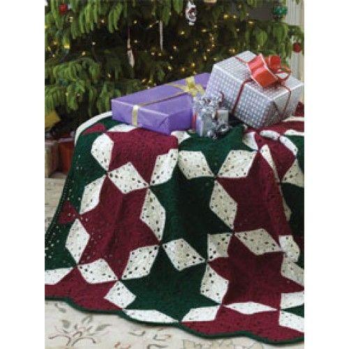 Free Christmas Star Throw Crochet Pattern Crochet Pinterest