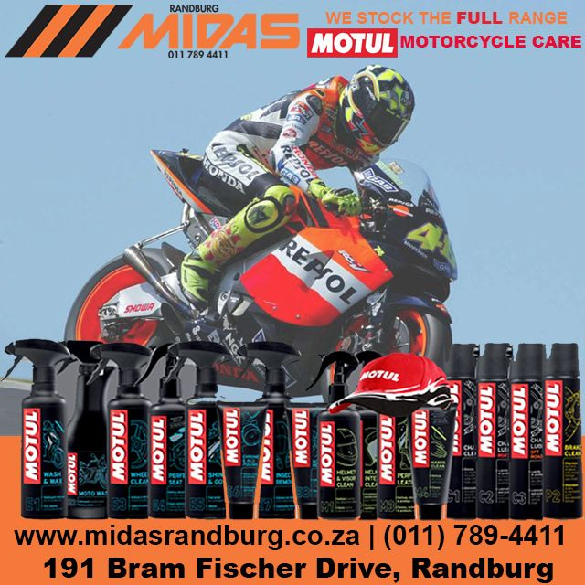 Motul motorcycle care now available from Randburg Midas #Motorbikes http://bit.ly/1Dx0CUw