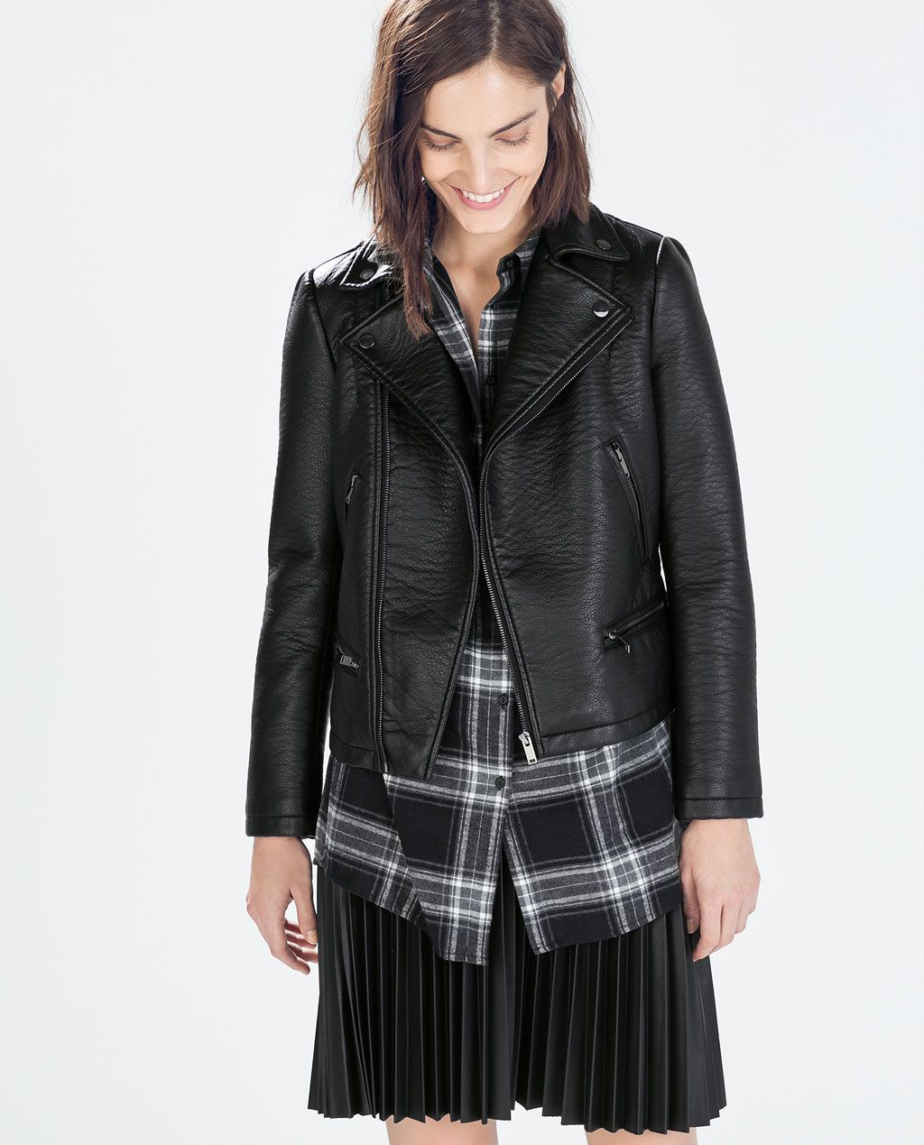BIKER JACKET from Zara (With images) Womens biker jacket
