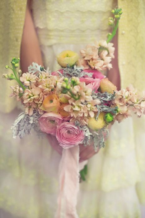 sweet bouquet. - The colors in the bouquet are so soft and dreamy.