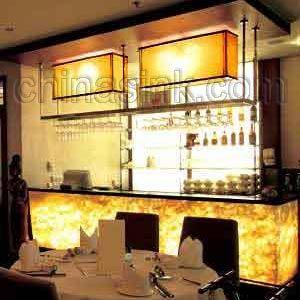 Onyx Hinterleuchtet onyx bar mcclain remodel bar restaurant bar design