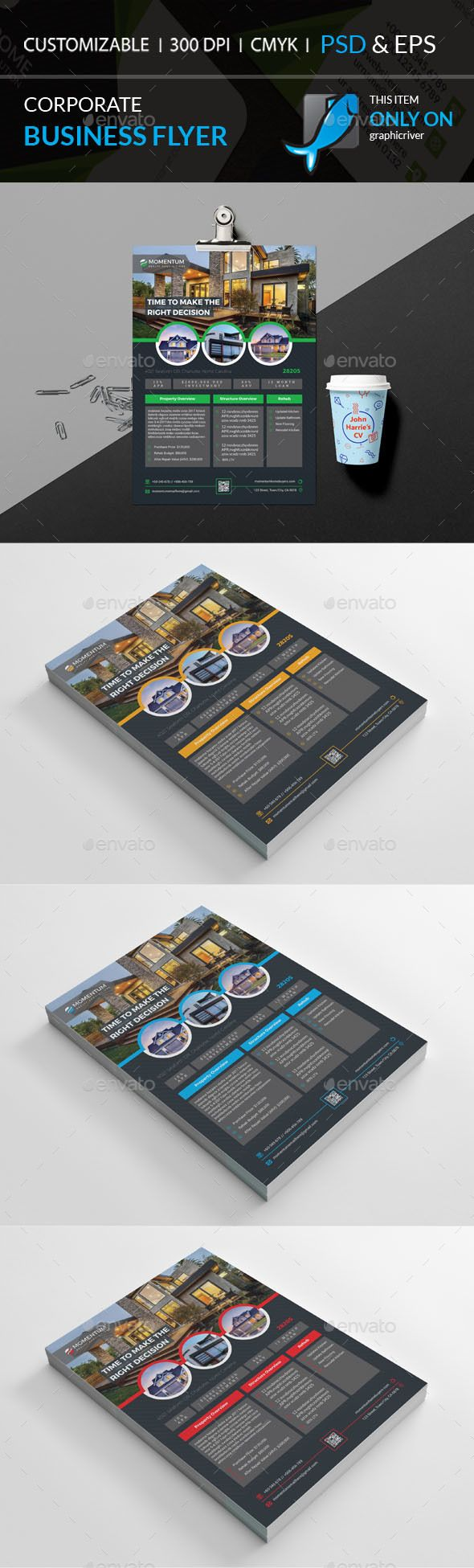 Corporate Business Flyer by Galax-e Corporate Business FlyerWell Layered Organised (EPS & PSD), 210×297, CMYK , Print ready,Text/fonts/colors editable. Whats you get