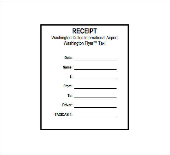 Blank Taxi Receipt Template 6 Templates Example Templates Example Receipt Template Invoice Template Word Resume Template Free