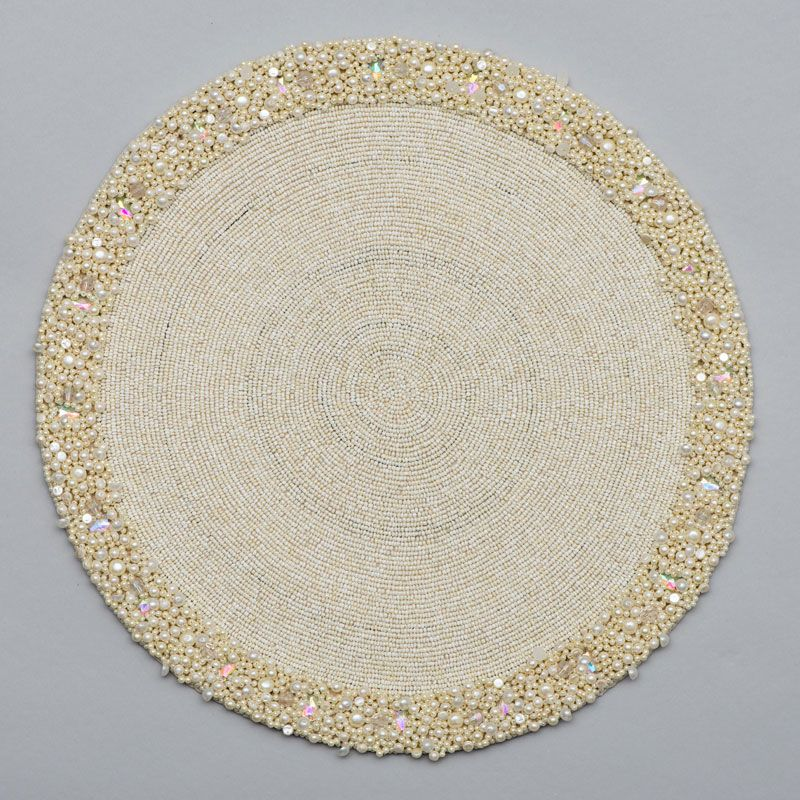 Round Placemat With Cluster Border Placemats Round Beads Cluster