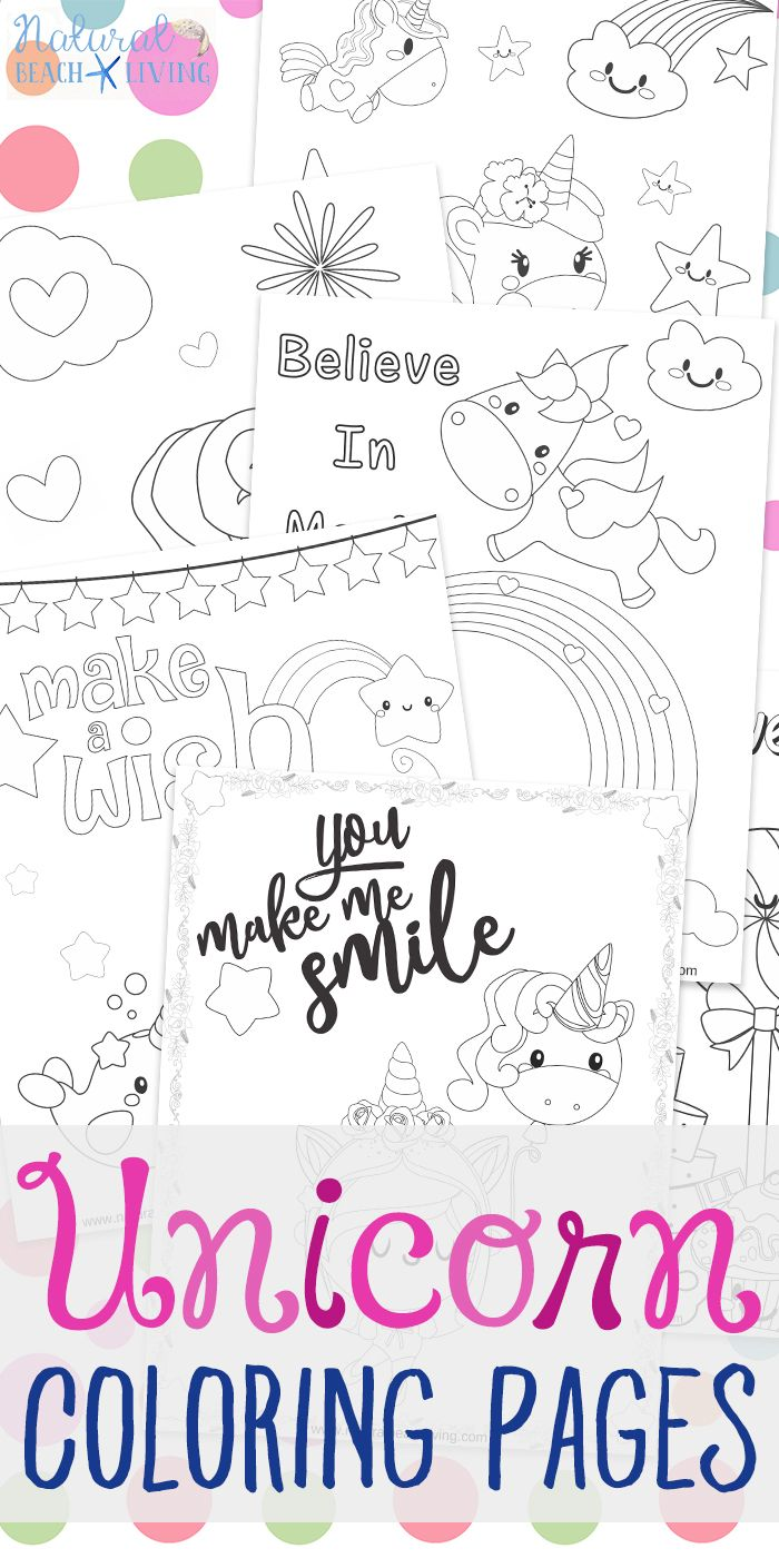 Unicorn Coloring Pages - Free Unicorn Preschool Theme Activities ...