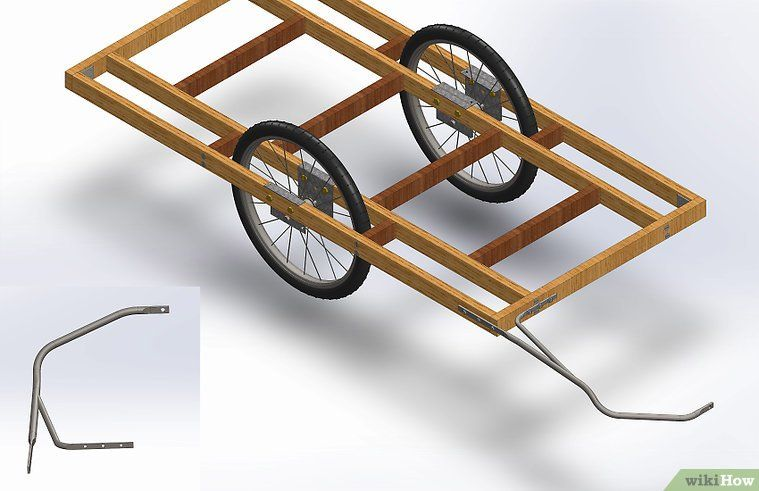 how to build a bicycle cargo trailer 7 steps with pictures ideias pinterest. Black Bedroom Furniture Sets. Home Design Ideas
