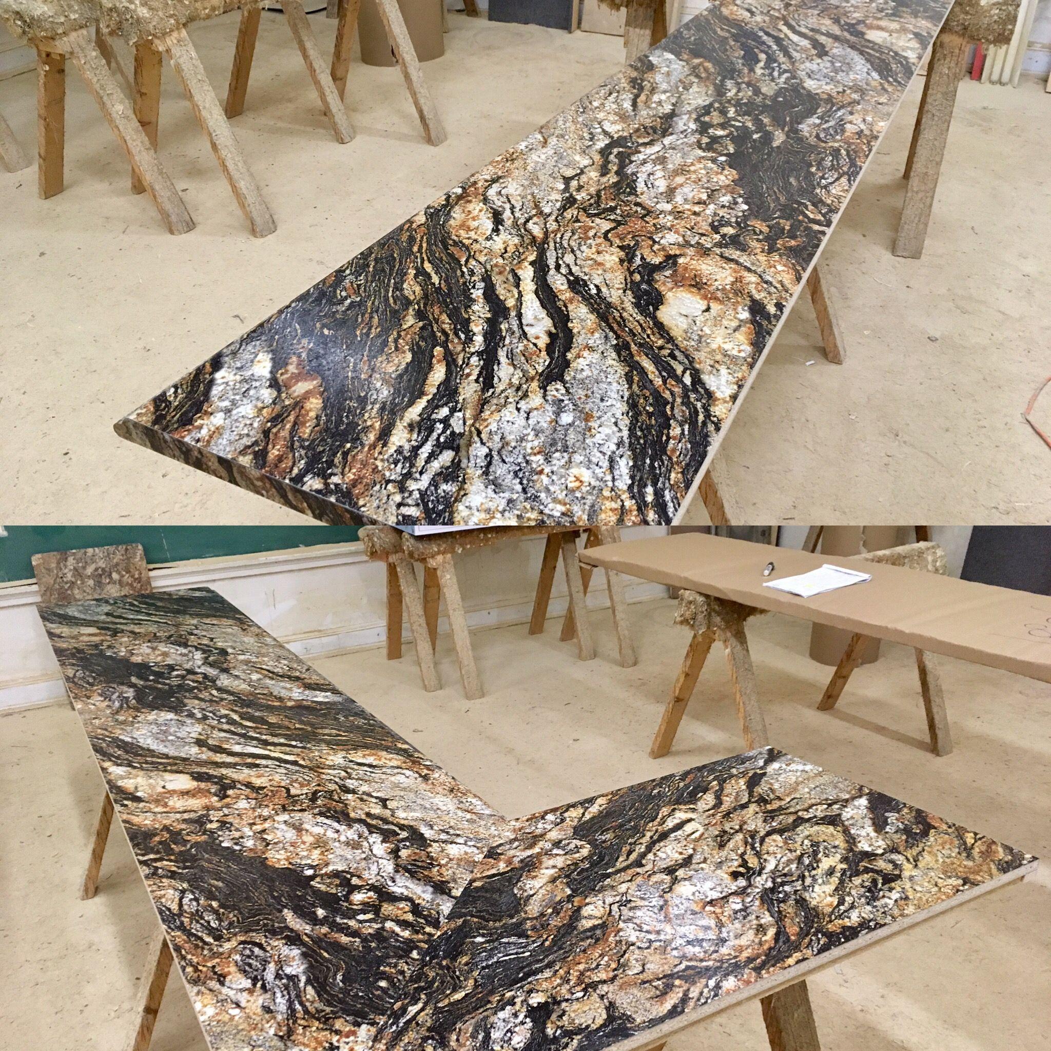 Kitchen Countertops Upgrade: Formica's Magma Black, Radiance Finish, Valencia Profile