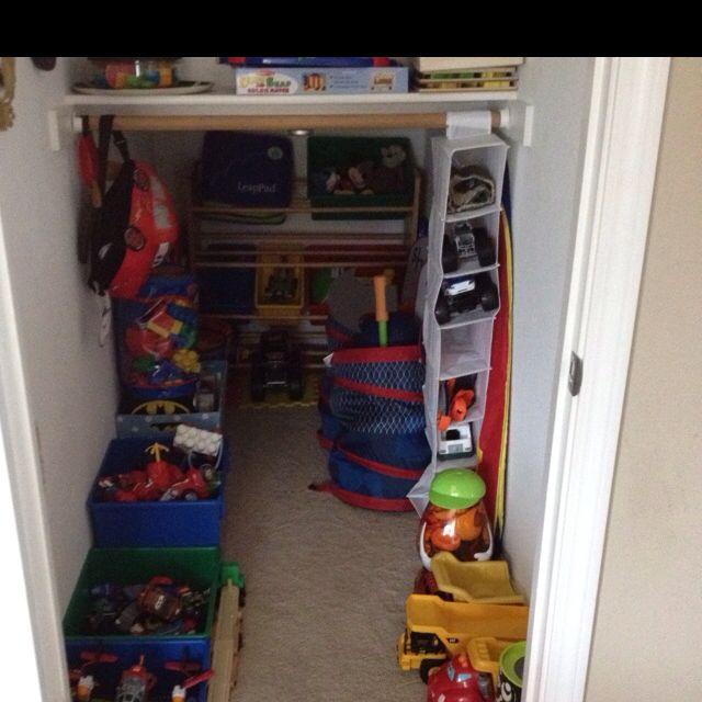 Turned Under Stair Closet Into Toy Room Understairs Storage Stair Storage Under Stairs
