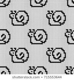 Photo of Gestrickte nahtlose Muster Pfoten Stock-Vektorgrafik (Fähig) 313334162