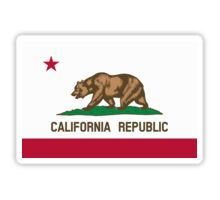 California USA State Flag Bedspread Duvet T-Shirt - Californian Sticker Sticker