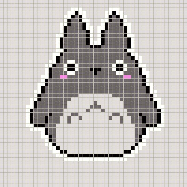 I WILL MAKE THIS BLANKET!! Totoro pattern for knit or crochet ...