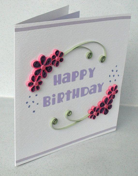 love this quilled birthday card also quilling by heike braunert rh za pinterest
