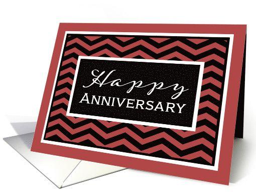 Happy anniversary business anniversary card chevron card happy anniversary business anniversary card chevron card reheart Gallery