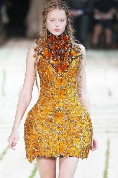 ae5d9807c833e Sarah Burton for Alexander McQueen butterfly dress