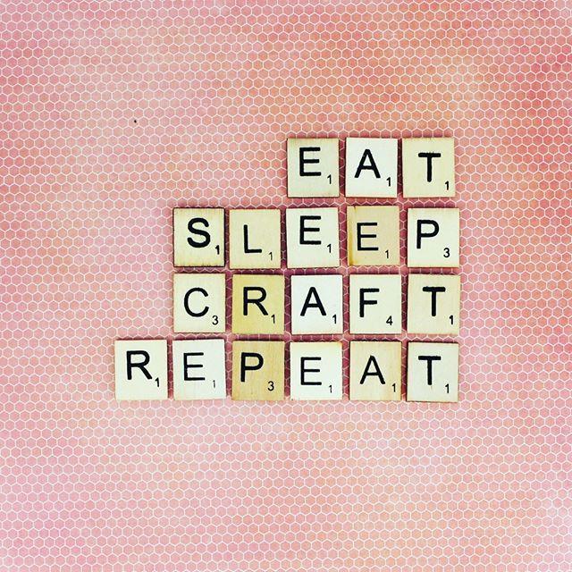 Friday Feels #craft #friday #eatsleepcraftrepeat #eatsleepcraft #crafts #craftroom #crafter #crafty #crafting    #Regram via @theworksstores