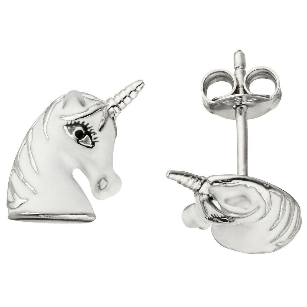 Silber Ohrstecker Kitty Katze Damen 925 Ohrringe Stecker Ohrschmuck Geschenk