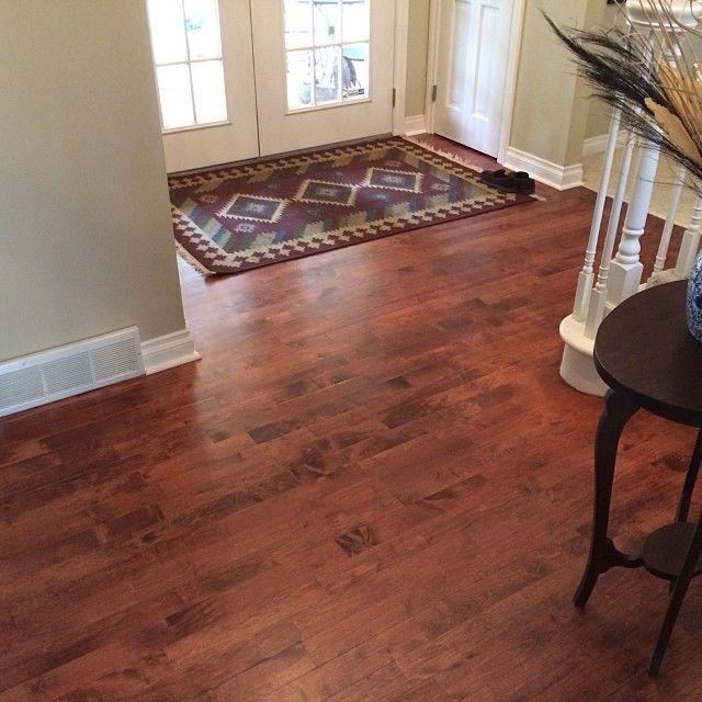 Sand Refinish Maple Hardwood: Today's #hardwood #floor #refinishing Project With