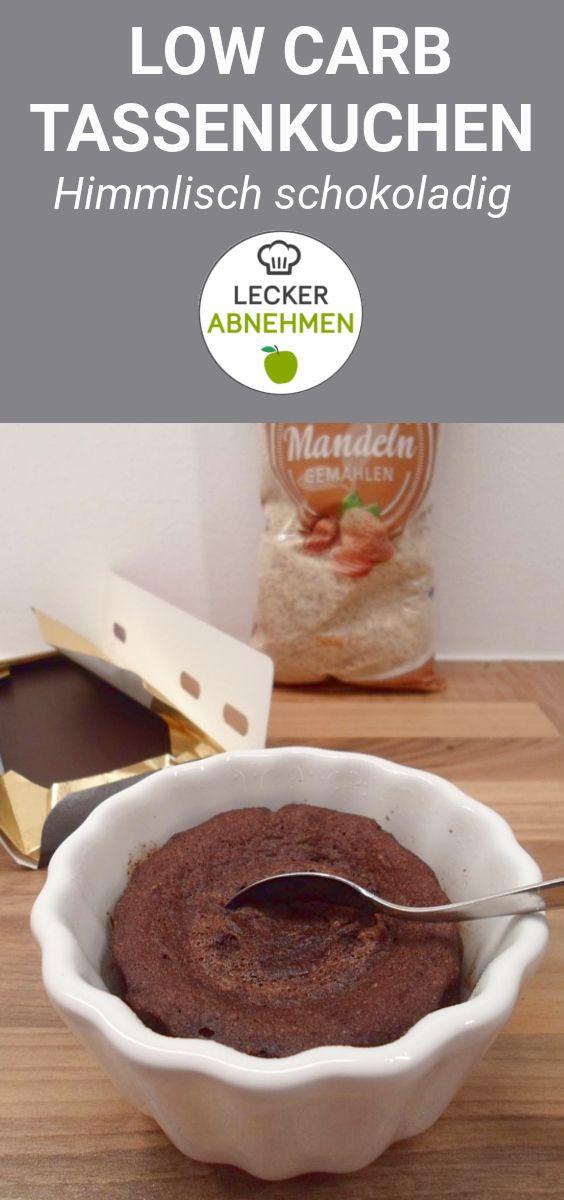 Low carb Schoko Tassenkuchen   2 Minuten Blitz Dessert