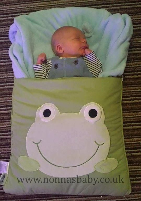 """Baby Henry is a cute little man! All comfy and content in his Googly Green nap mat. Thanks to mummy Rachael who said """"Henry is a happy little napper in his froggy nap mat :-) x"""". Nonna is delighted! • Find out more about Nap Mats: https://nonnasbaby.co.uk/baby-nap-mats/"""