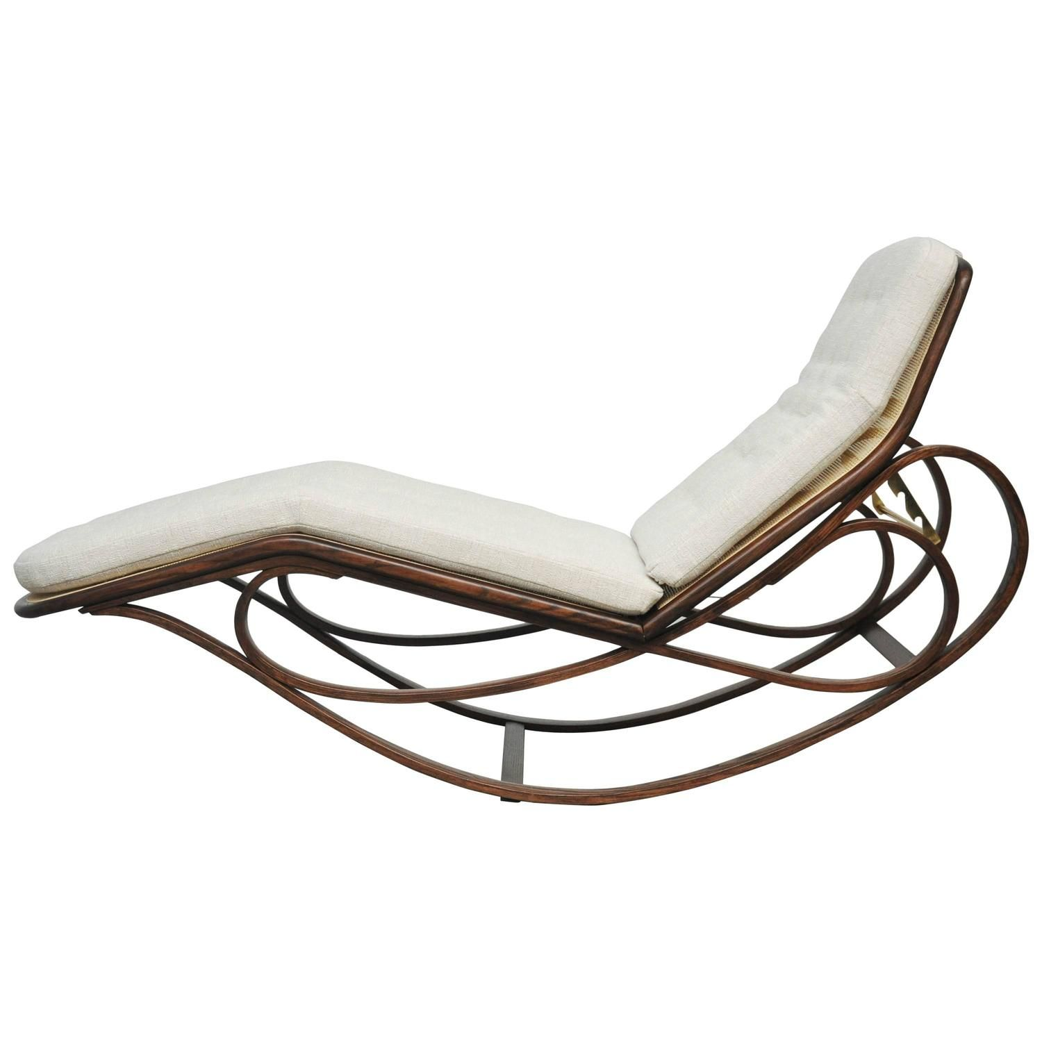 Tommy Bahama Outdoor Cushions, Dunbar Rocking Chaise Lounge By Edward Wormley From A Unique Collection Of Antique And Modern Chaise Longues At Https Chaise Lounge Chaise Teak Lounge Chair