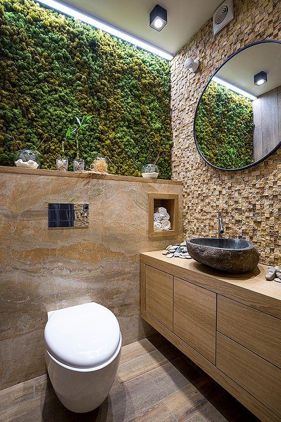 Öko-Design des Badezimmers mit kleinen vertikalen Gärten #interiorremodel