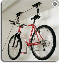 The Best Way To Store Bicycles Pulleys Help Lift It To The