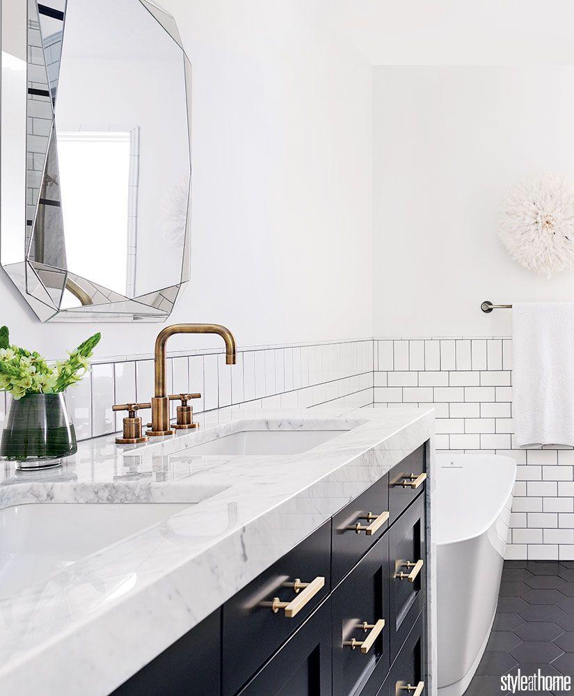 A Manhattan Hotel Inspired Bathroom With Insta Worthy Charm In 2018