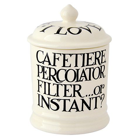 Emma Bridgewater Black Toast Coffee Storage Jar 1 Pint Online At Johnlewis