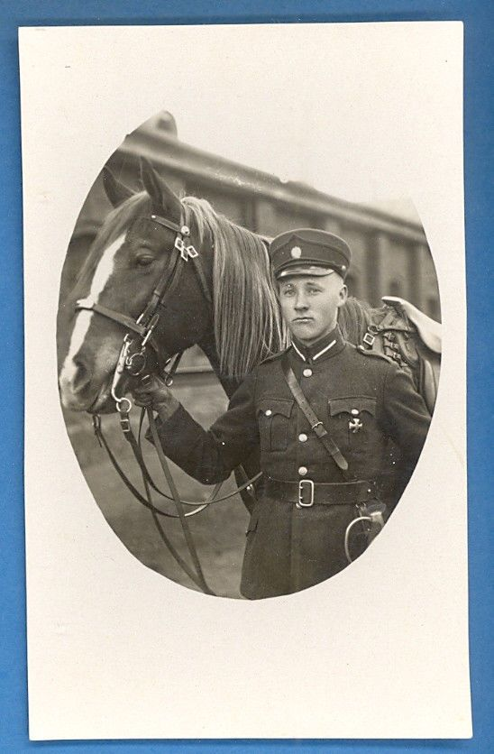Latvian Soldier with his horse
