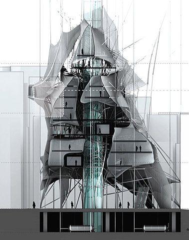 Cameron Anderson Architecture QUT: Interesting Parasite Design Nested  Skyscaper