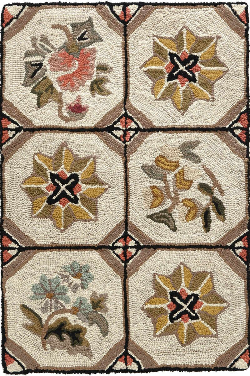 Flower Box Cotton Hooked Rug | Dash & Albert Rug Company