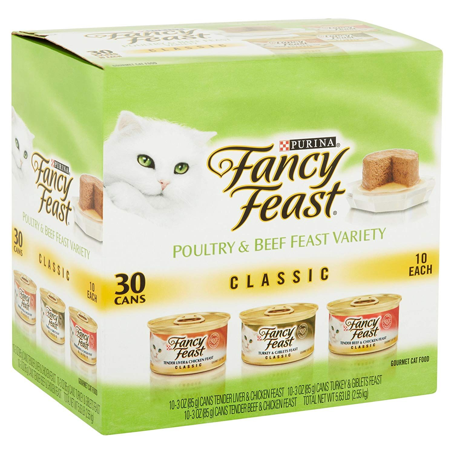 Purina Fancy Feast Cans 3 Oz Wet Cat Food Classic Poultry Tender Beef Feast Variety Pack Finely Ground And Delightfully Smooth Li Food Cat Food Wet Cat Food