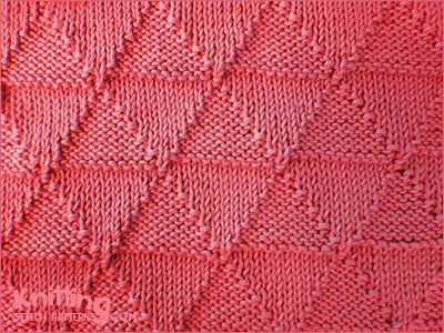 Knitpurl Triangles Reversible Stitch Pattern Looks Identical On