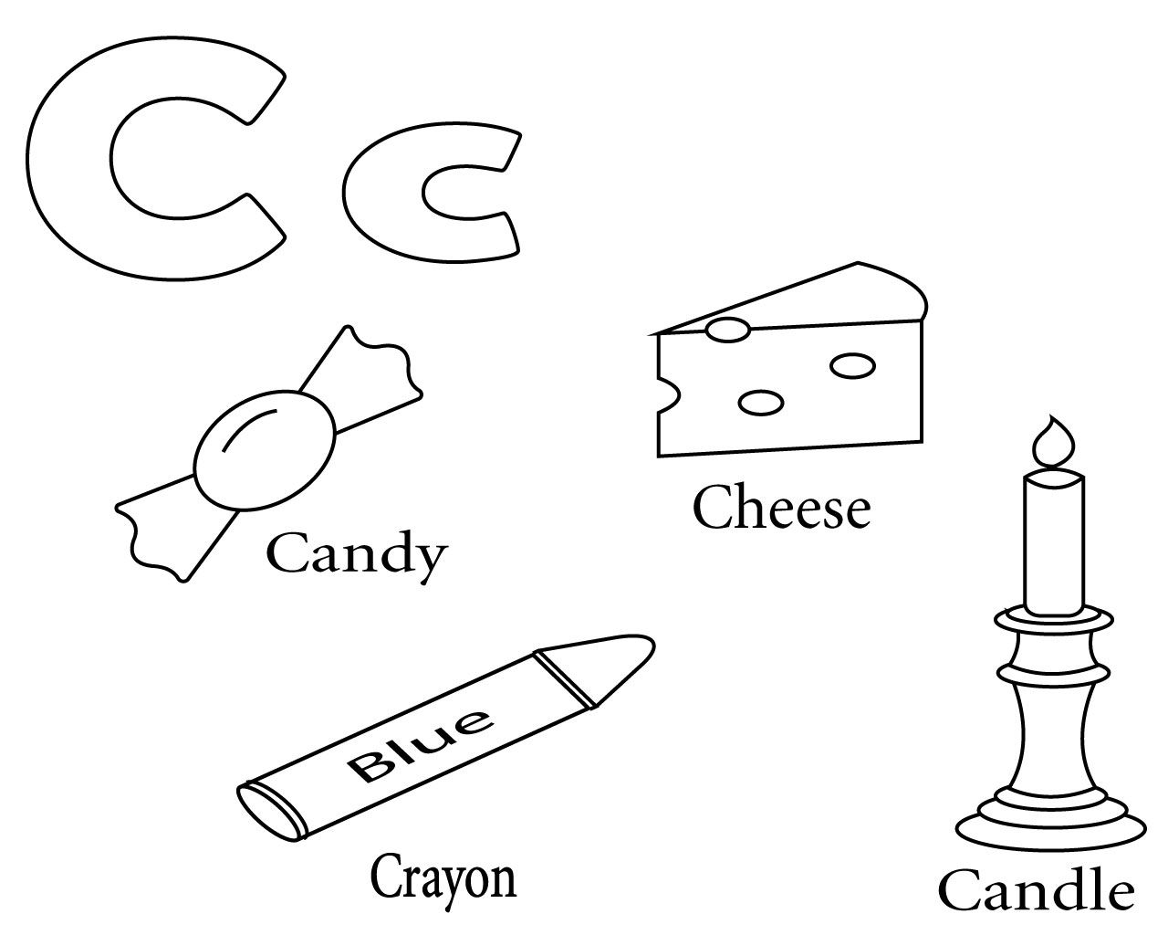 Letter C Coloring Pages For Your Little Ones