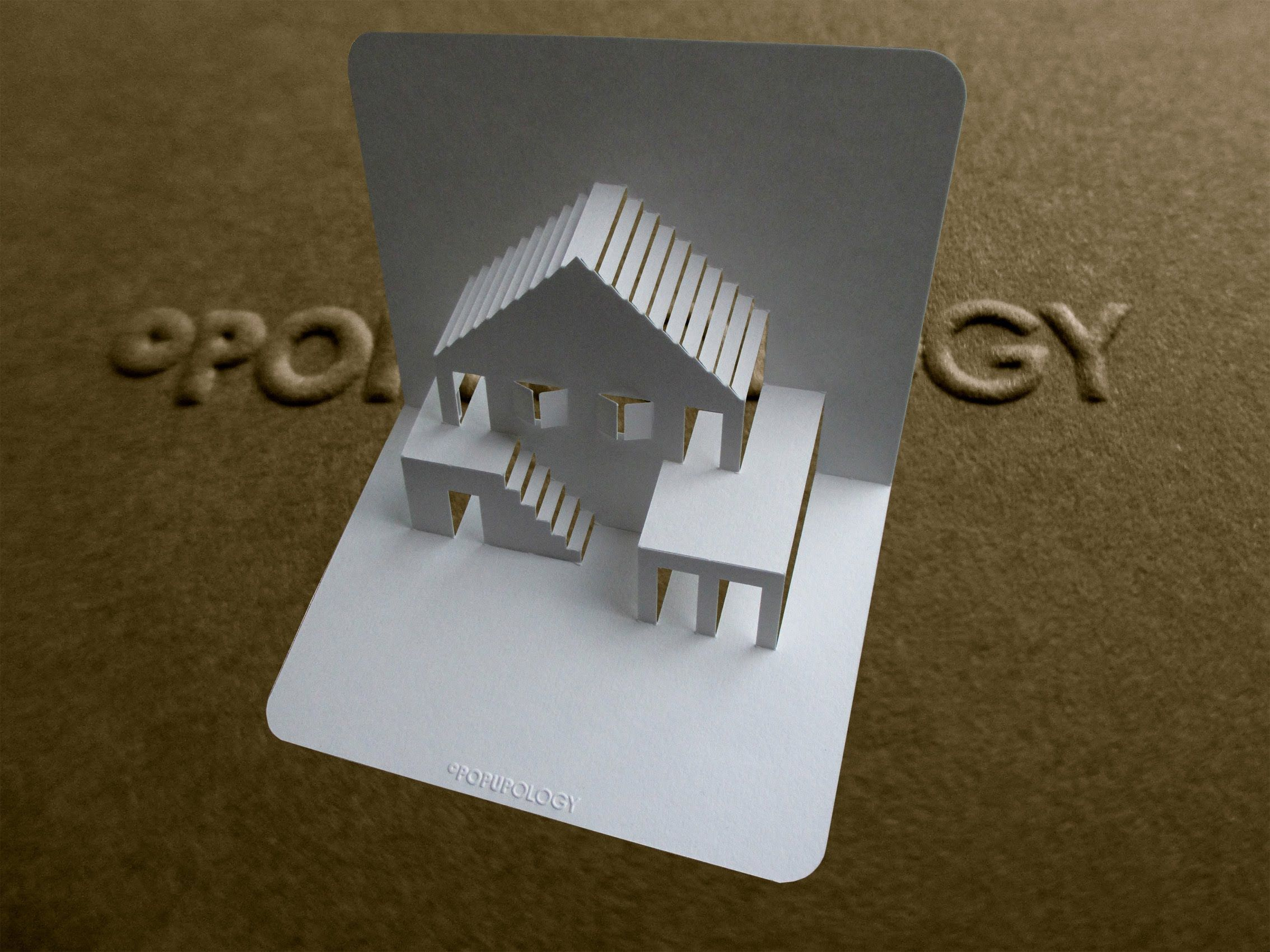Pop Up House Card 3 Tutorial Origamic Architecture